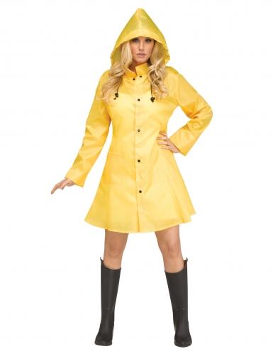 Regenmantel-Kostüm für Halloween Damenkostüm gelb