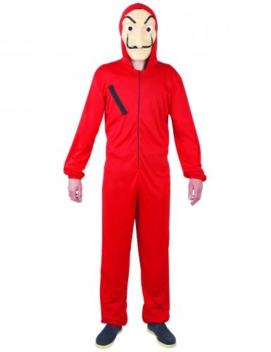 Bankräuber-Kostüm für Jugendliche Karnevalskostüm rot-schwarz