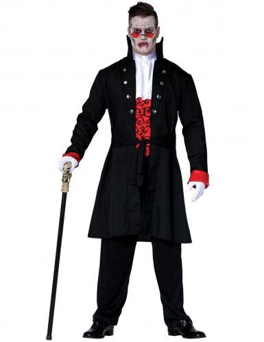 Vampir-Graf Herrenkostüm Halloween-Kostüm schwarz-rot