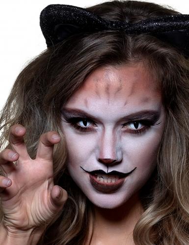 Animalische Katzen-Kontaktlinsen für Erwachsene schwarz-blau