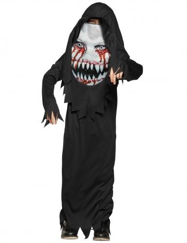 Monster-Kostüm für Kinder mit Maske Halloweenkostüm schwarz-weiss