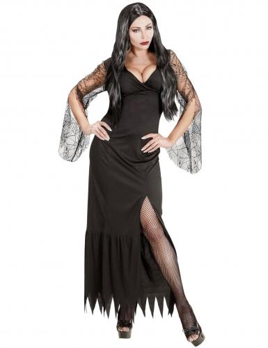 Dunkle Gräfin Halloween-Kostüm für Damen schwarz