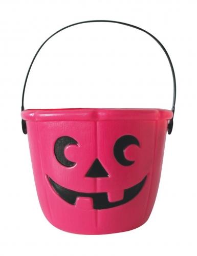 Süssigkeiten-Eimer für Halloween pink