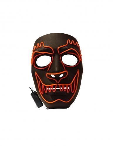 Werwolf-LED-Maske Halloween-Maske schwarz-rot