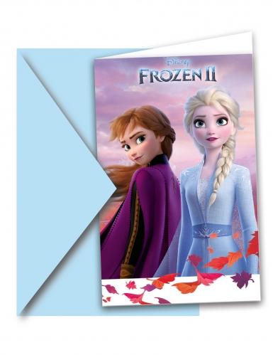 Frozen 2™-Einladungskarten und Umschläge 6 Stück bunt 14x9 cm