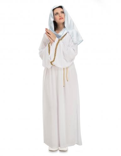 Jungfrau-Maria-Kostüm 3-teilig weiß-gold