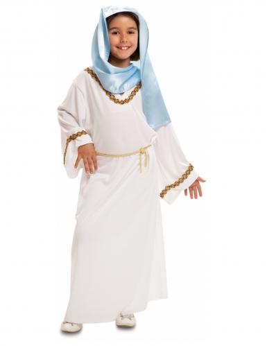 Maria-Kostüm für Kinder Krippenspiel-Kostüm weiss-gold-blau