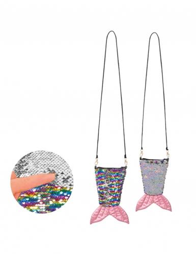 Meerjungfrau-Umhängetasche mit Pailletten bunt