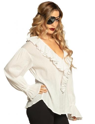 Piratenbluse Barock-Bluse Rüschenbluse weiß