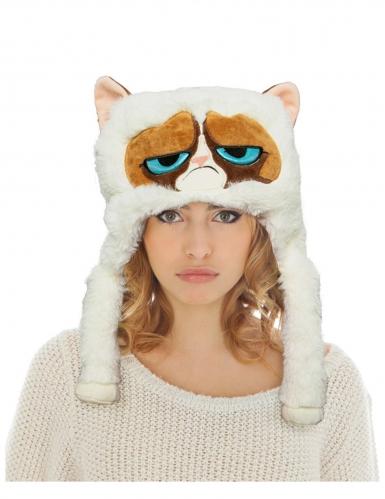 Grumpy Cat™-Mütze für Erwachsene Accessoire weiss-braun