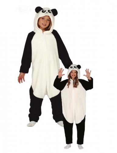 Panda-Kigurumi für Kinder schwarz-weiss