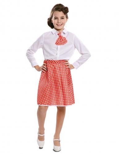 Retro Pin-Up Kostüm für Mädchen rot-weiss