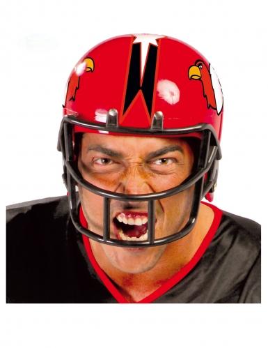Football-Helm für Herren Faschings-Accessoire rot