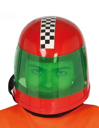 Formel 1-Helm für Kinder Accessoire rot-grün