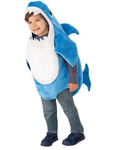 Offizielles Daddy Shark™-Kostüm für Babys mit Soundsystem Baby Shark™ blau-weiss