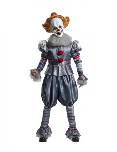 Pennywise™-Deluxekostüm für Erwachsene ES™ Halloween-Kostüm grau-rot