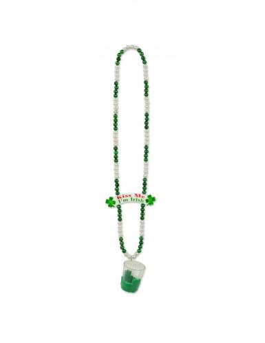 "St-Patrick's-Day-Schnapsglas-Kette  ""Kiss me I'm Irish"" grün"