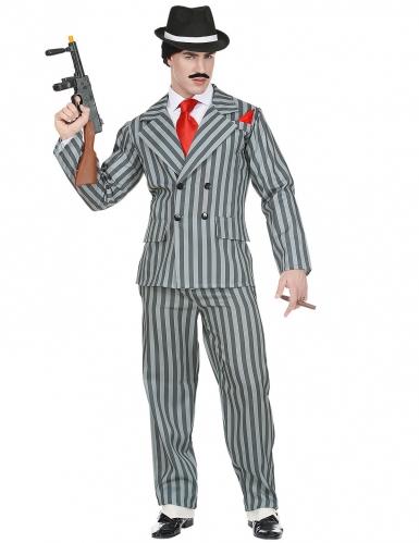 Amerikanischer Gangster der 20er Herrenkostüm grau
