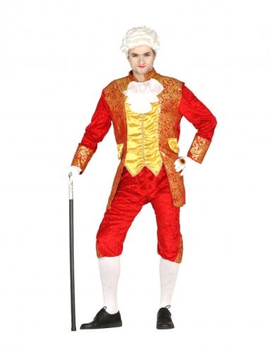 Graf-Kostüm für Herren Renaissance-Kostüm Fasching rot-gold