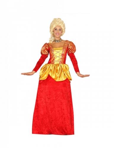 Barock-Kostüm für Damen Gräfin Faschingskostüm rot-gelb
