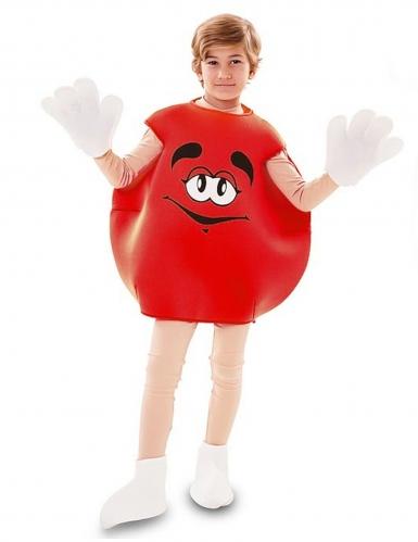 Bonbon-Kostüm für Kinder witziges Faschingskostüm rot-weiss