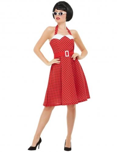 50er-Kostüm für Damen Rockabilly Faschingskostüm rot