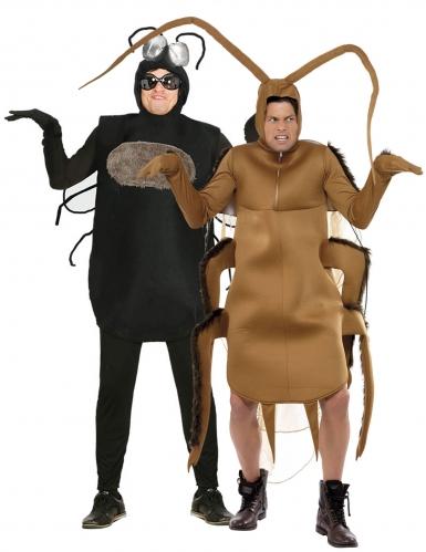 Insekten-Paarkostüm für Erwachsene witziges Kostüm Fasching schwarz-braun
