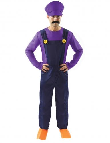 Klempner-Herrenkostüm Faschingskostüm violett