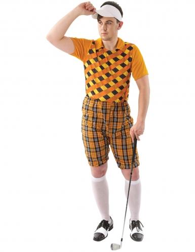 Golfer-Kostüm für Herren Faschingskostüm orange-braun