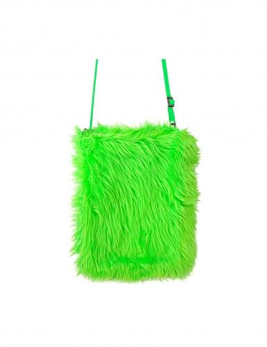 Fell-Tasche Umhängetasche Kostümzubehör Fasching neongrün