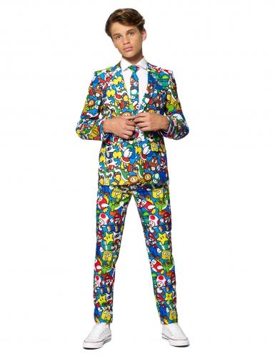 Mr. Super Mario™-Kostüm für Jugendliche Opposuits™ Faschingskostüm bunt