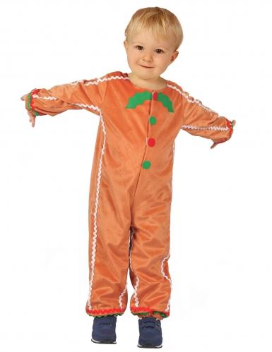 Lebkuchenmännchen-Kostüm für Jungen Weihnachtskostüm braun