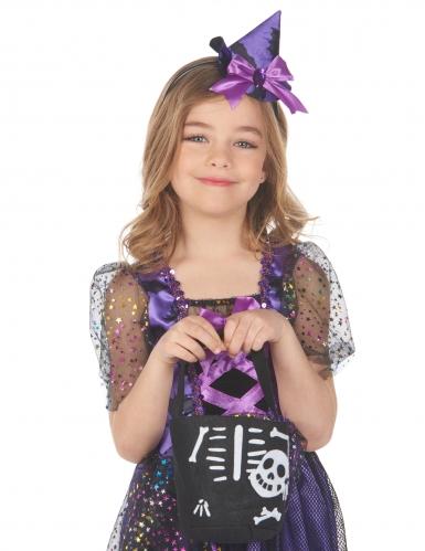 Skelett-Beutel Halloween-Tasche für Kinder schwarz-weiss