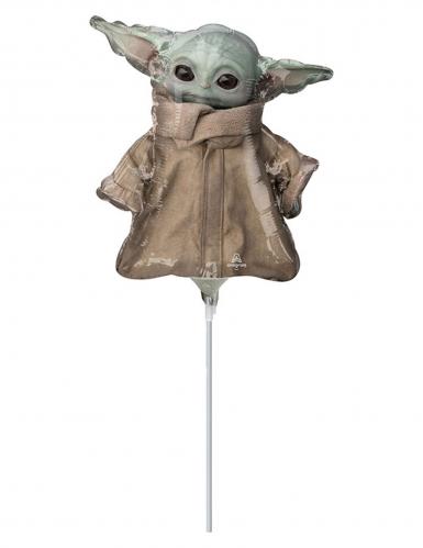 Baby Yoda-Luftballon The Mandalorian Star Wars™ Deko grün-braun 23 cm