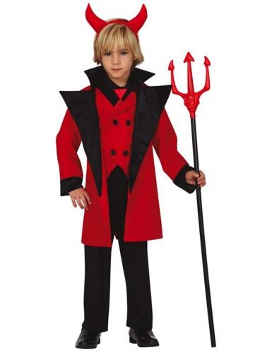 Höllisches Teufel-Kostüm für Jungen Halloweenkostüm rot-schwarz