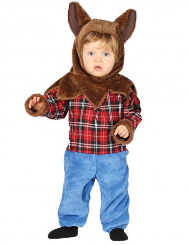 Werwolf-Kostüm für Babys Halloweenkostüm blau-braun-rot
