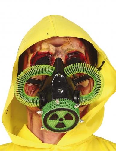 Strahlen-Maske Radioaktivität für Erwachesene Halloweenmaske rot-grün