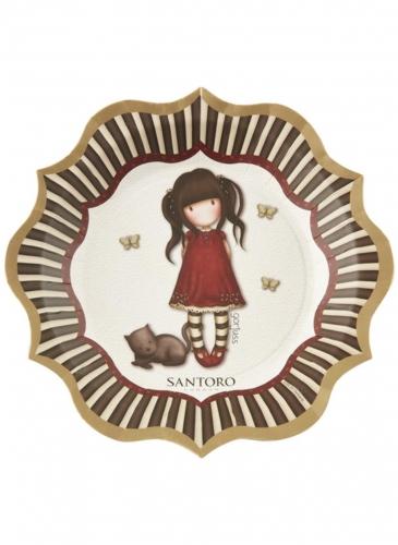 Offizielle Ruby Santoro™-Partyteller 8 Stück bunt 23 cm