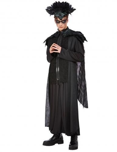 König der Raben-Kostüm für Herren Halloweenkostüm schwarz