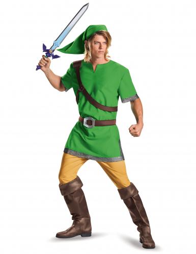 Link™-Kostüm für Damen und Herren Faschingskostüm grün-braun