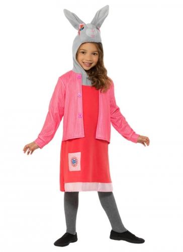 Lotta Weißfell-Kostüm für Mädchen Peter Hase™ Faschingskostüm pink