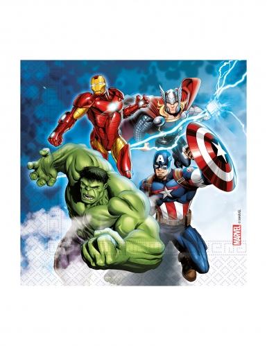 Avengers™-Partyservietten Lizenzware 20 Stück bunt 33 x 33 cm