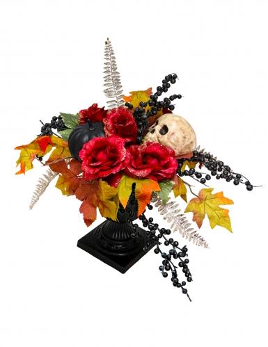Tag der Toten-Tischdeko mit Skelett Halloween-Deko bunt 16x47 cm