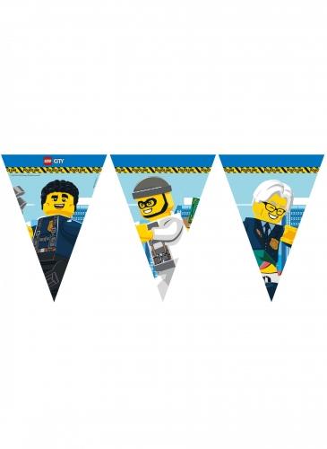 Offizielle Lego City™-Wimpelgirlande aus FSC®-Papier bunt 2,3 m
