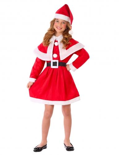 Weihnachtsfrau-Kostüm für Mädchen rot-weiß-schwarz