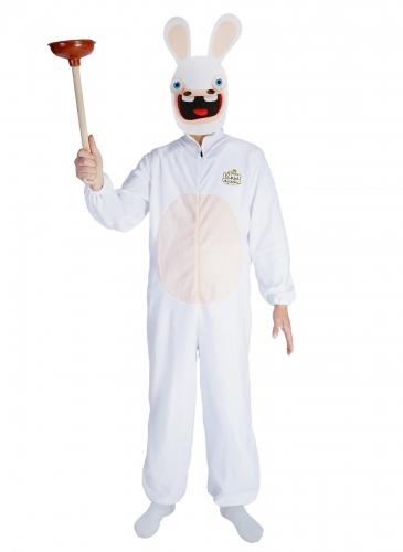 Rabbids™-Kostüm mit Maske für Erwachsene Faschingskostüm weiss