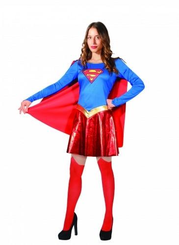 Offizielles Supergirl™-Kostüm für Damen rot-blau-gelb