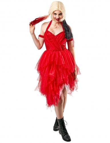 Offizielles Harley Quinn™-Superschurken-Kostüm für Damen rot