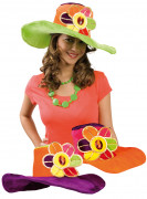 Hippie-Hut mit Blumenmotiv für Erwachsene