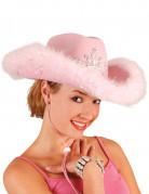 Cowgirlhut Kostüm-Accessoire rosa